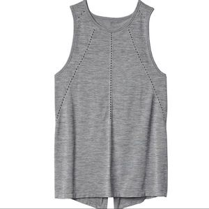 Athleta Foothill Split Tie Back Tank Grey XS